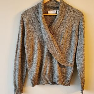 Alfred Dunner Petite Ash Gray Blend Sweater